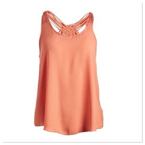 Apricot Crisscross-Back Tank Top